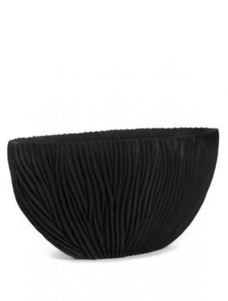 ovale river vase in schwarz in versch gr en hochwertige gef e aus kunststoff hochwertige. Black Bedroom Furniture Sets. Home Design Ideas