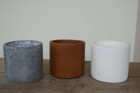 Keramikgefäß Ø17 H 16 cm in verschiedenen Farben