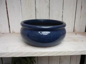 Hydrogefäße aus Steinzeug in blau Ø24/H11 cm
