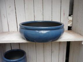 Hydroschale aus Steinzeug in blau Ø38cm H: 11 cm