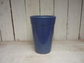 Hydrovase aus Steinzeug in dunkel blau Ø12 /H18 cm