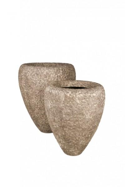 Polystone Rock Couple rough Gefäß in versch. Größen