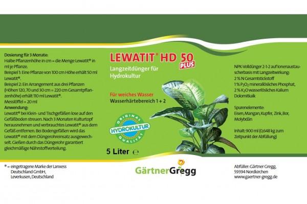 Lewatit®HD50plus, 5 ltr. Eimer Langzeit Dünger für Hydropflanzen