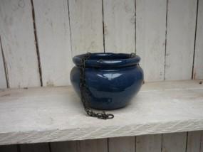 Hydroampelgefäße aus Steinzeug in dunkel blau für KT 11/09